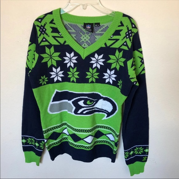 hot sale online 3bdc3 3c5d3 4/$25 Seattle Seahawks NFL Ugly Sweater